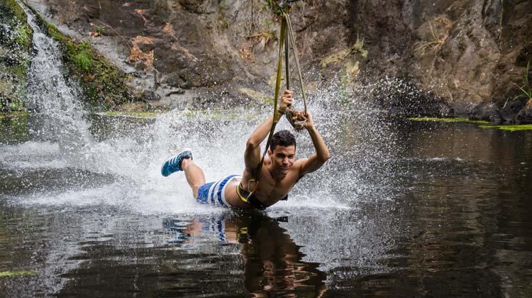 Casela Zipline Water